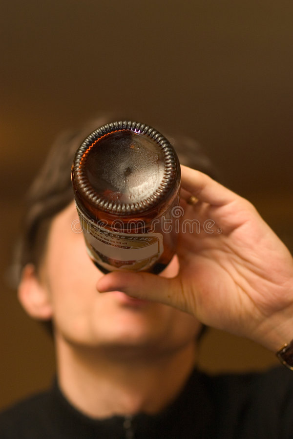 Drinking Beer stock photos