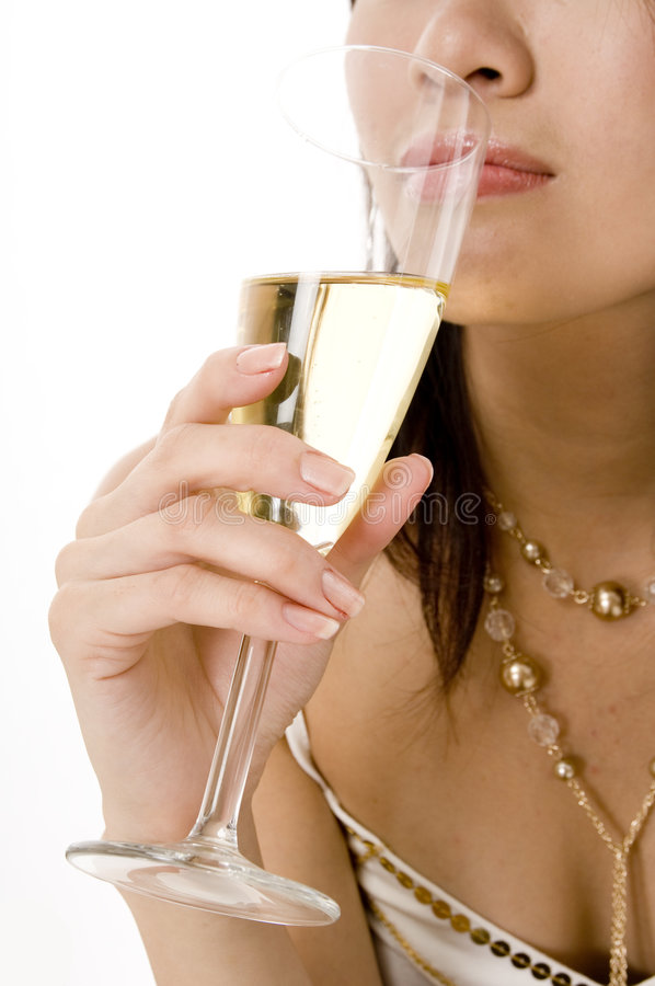 Drinking Champagne royalty free stock photography