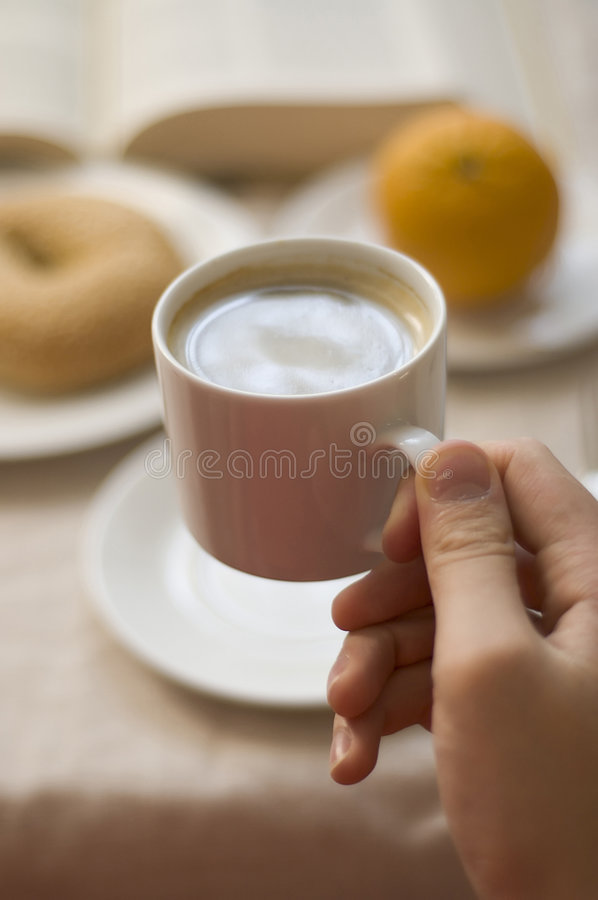 Download Drinking coffee stock photo. Image of saucer, food, porcelain - 206444