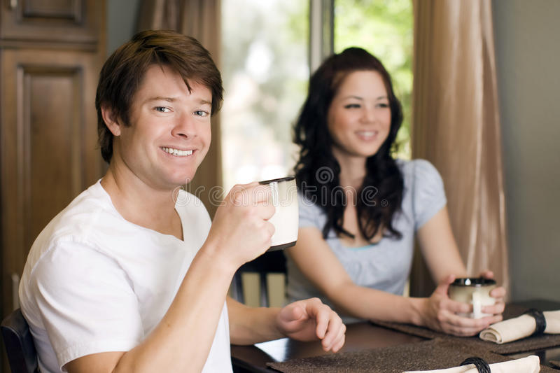 Download Drinking coffee stock image. Image of breakfast, pantry - 9416547