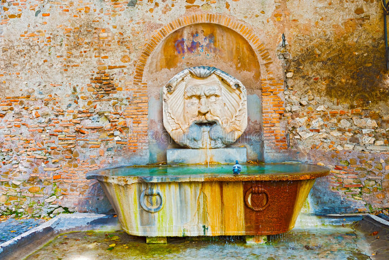 Drinking Fountain in Rome, Italy stock photography