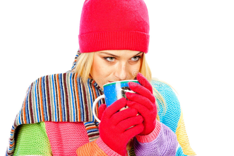 Drinking Girl Stock Image