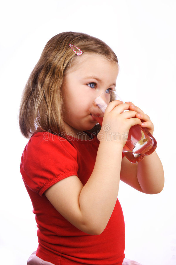 Drinking girl stock image