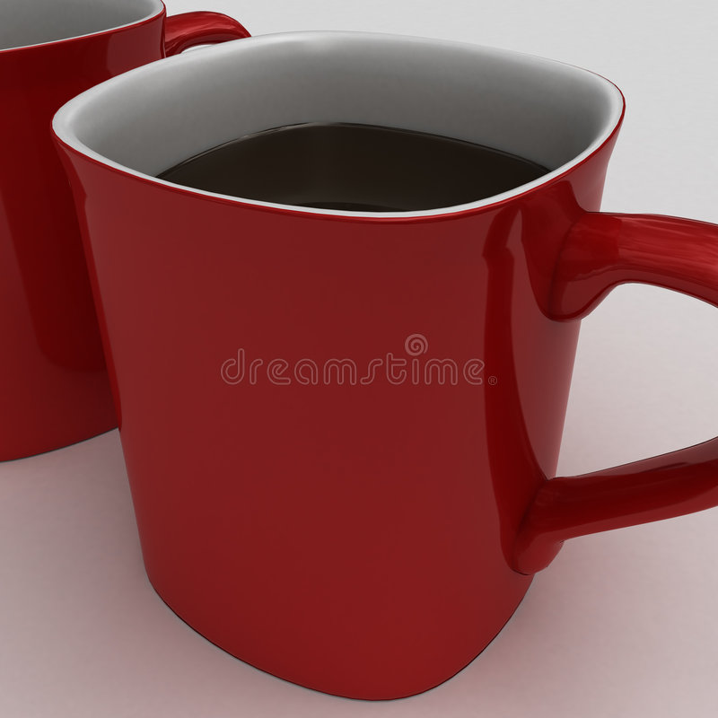Download Drinking A  Hot Cup Of Hot Chocolate Or Coffe Royalty Free Stock Images - Image: 6547239