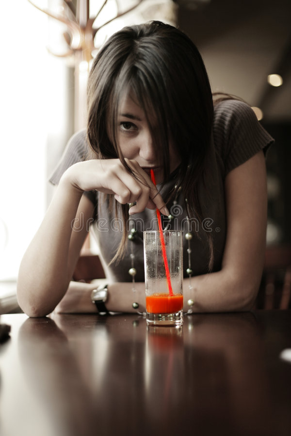 Free Drinking Juice Royalty Free Stock Images - 4049829