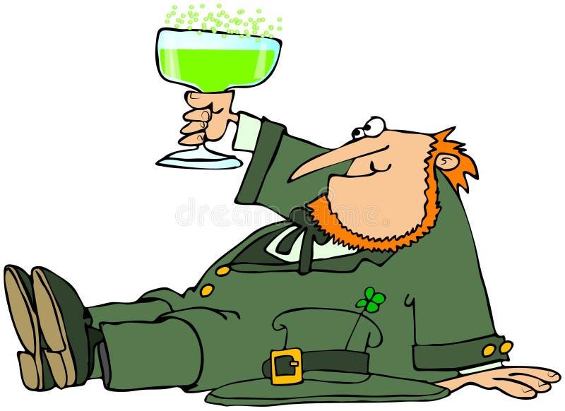 Drinking Leprechaun stock illustration. Illustration of ...