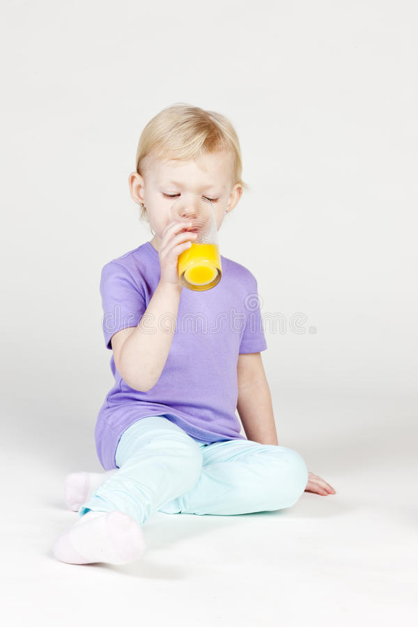 Download Drinking Little Girl Royalty Free Stock Photos - Image: 23010318