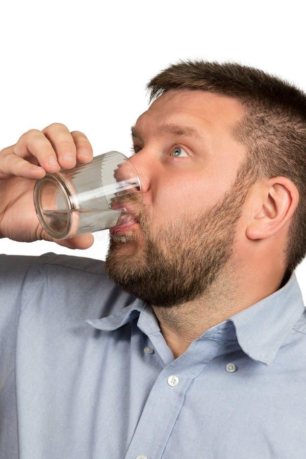 drinking man water στοκ φωτογραφία με δικαίωμα ελεύθερης χρήσης