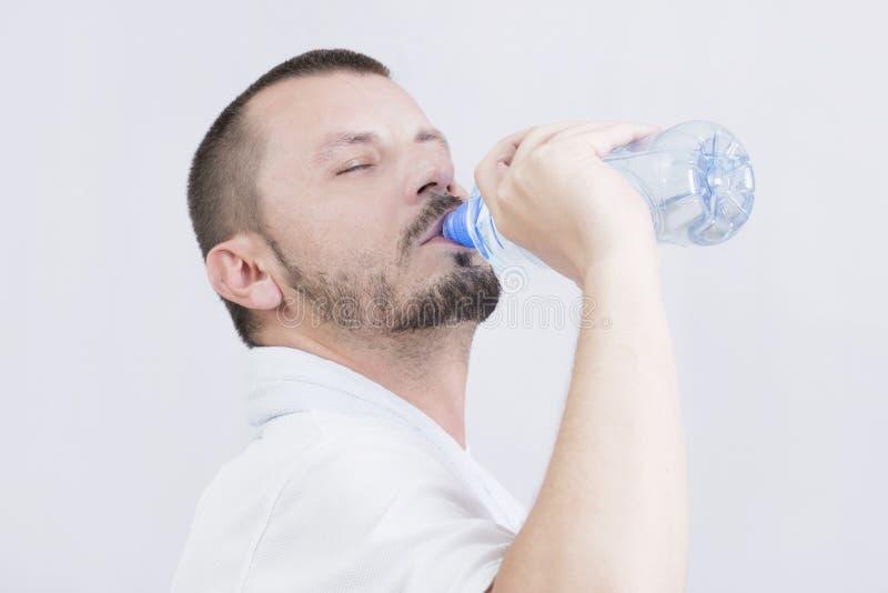 drinking man water στοκ εικόνες