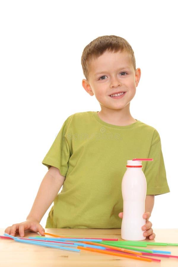 Drinking milk/jogurt