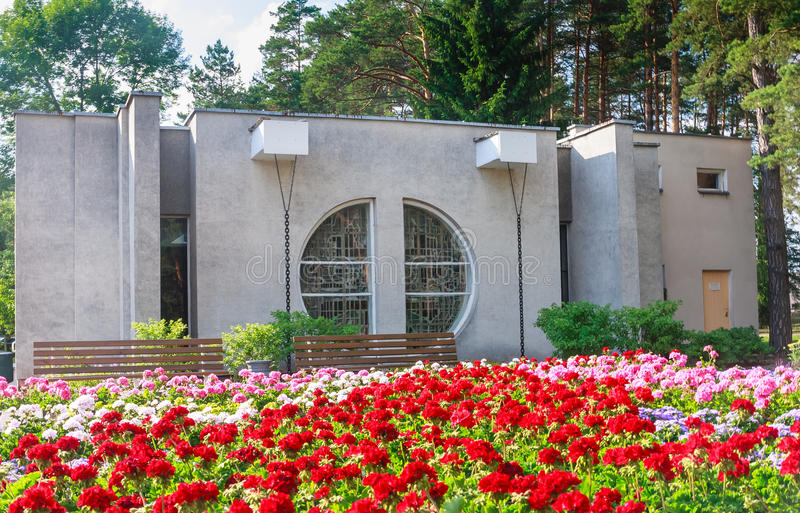 Drinking mineral water pump room. Health resort Druskininkai. Drinking mineral water pump room. Health resort Egle. , Lithuania stock photos