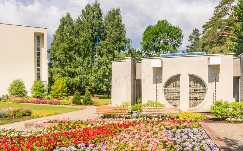Drinking mineral water pump room. Health resort. Egle. Druskininkai, Lithuania stock photos