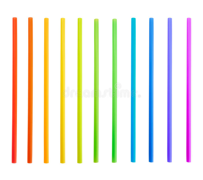 Drinking straw tube stock photos