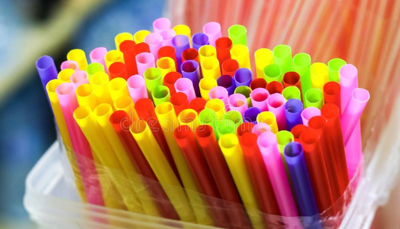 Drinking straw stock image