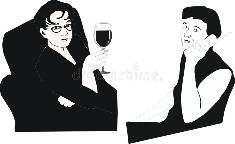 Download Drinking and talking stock vector. Illustration of beauty - 2805224
