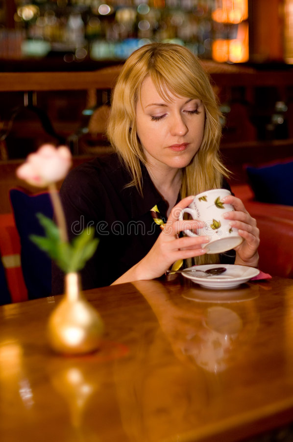Drinking tea stock photos