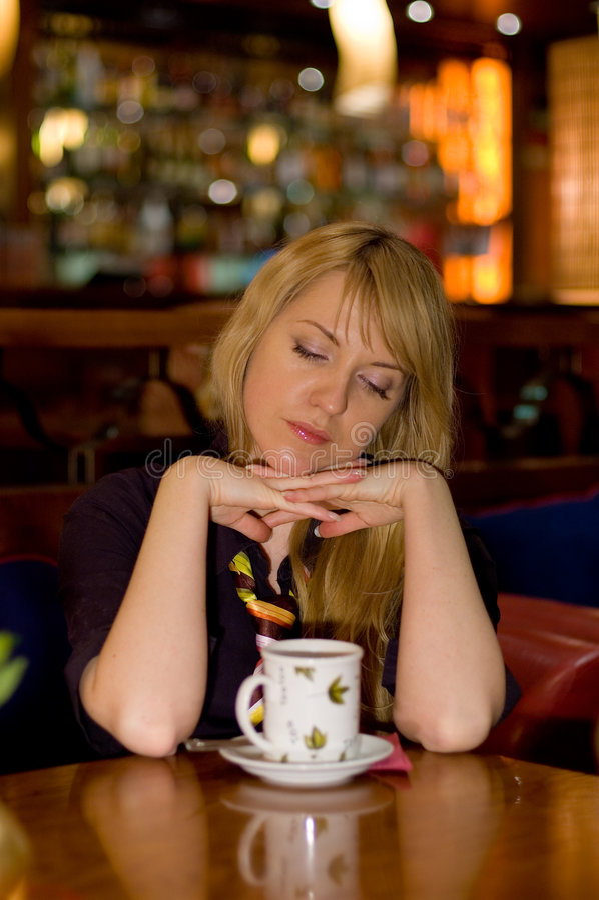 Drinking tea royalty free stock photos