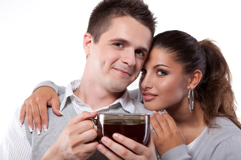 Download Drinking Tea Man And Woman Stock Images - Image: 20228974