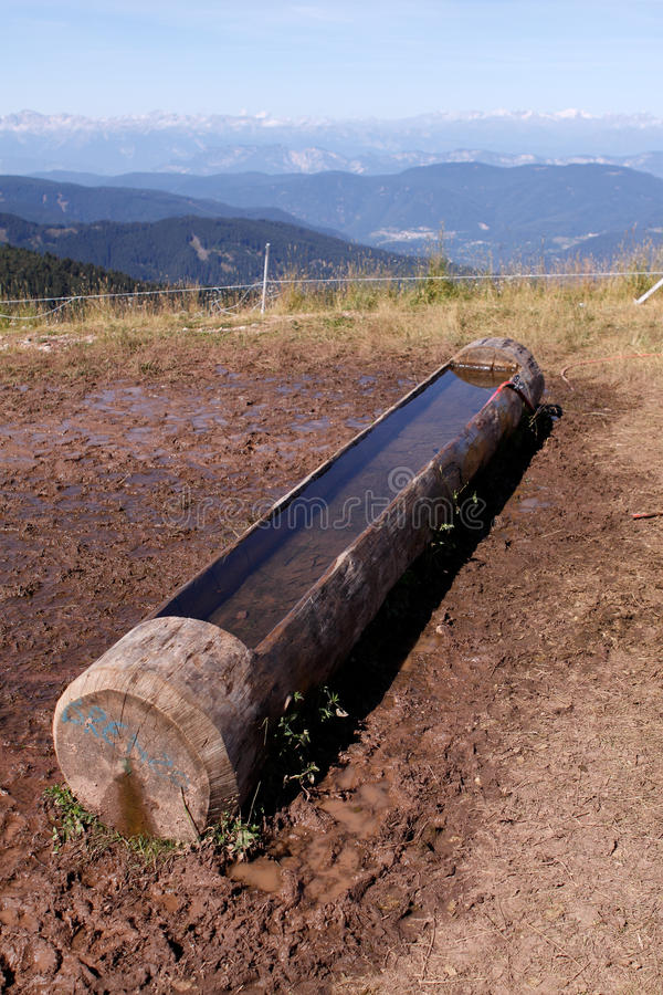 Download Drinking trough stock image. Image of landscape, trough - 12454967