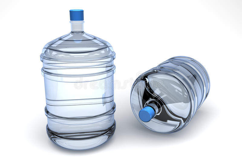 Drinking water containers royalty free stock photography