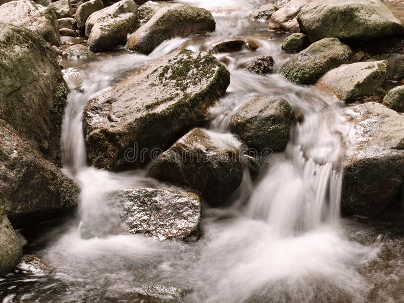 Drinking water flowing in the Harz mountains (ilsefälle stock image