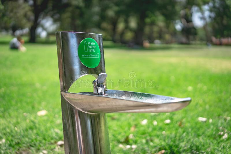 Drinking water fountain. In Melbourne, Australia royalty free stock photos
