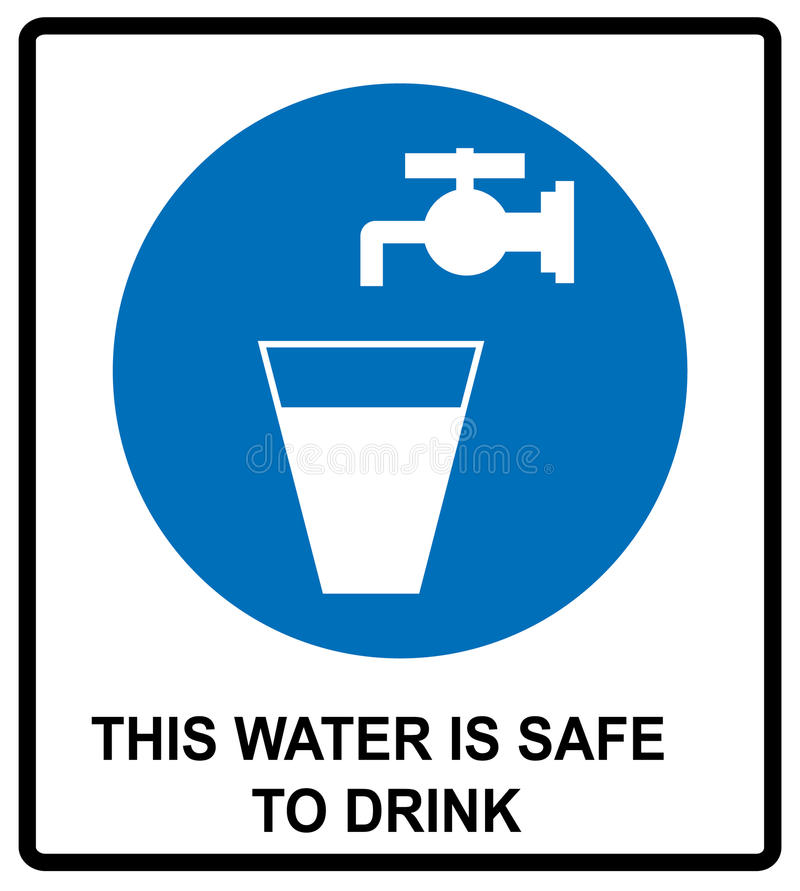 Drinking Water Sign This Water Is Safe To Drink Notice Vector Banner ...