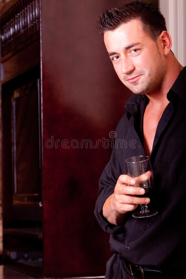 Drinking Wine Stock Photography