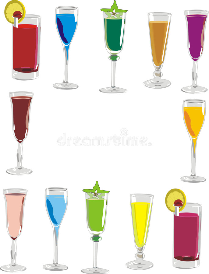 Download Drinks stock illustration. Image of party, alcohol, alcohols - 725960