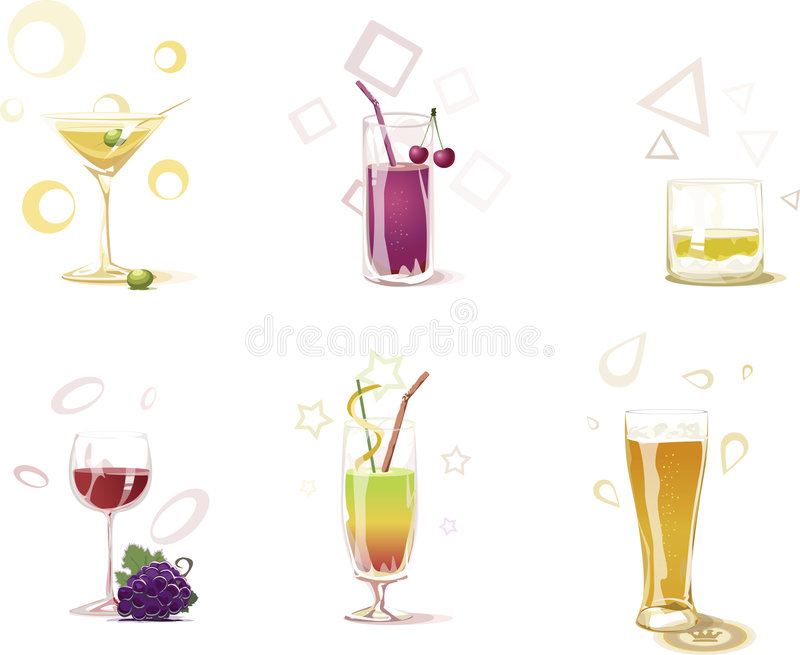 Download Drinks stock vector. Illustration of vials, martini, drink - 7780649