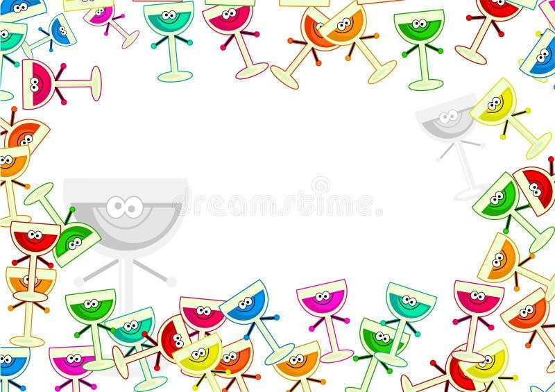 Drinks border vector illustration
