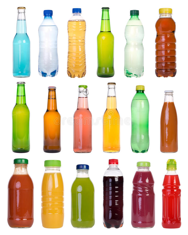 Drinks in bottles royalty free stock photography