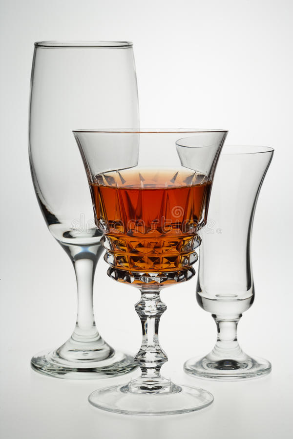 Drinks Glasses Royalty Free Stock Images