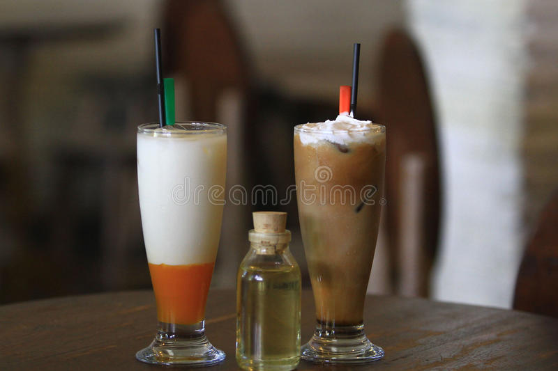 Drinks from Herbal Ingredients. Drinks are using herbal basic materials introduced in Solo, Java, Indonesia. The beverage is intended for consumers who crave a stock image