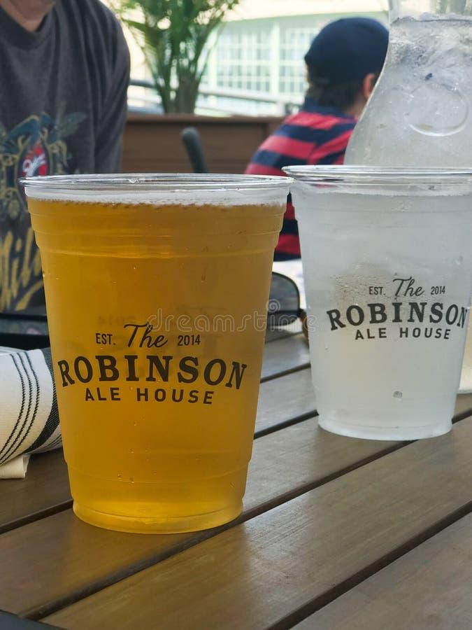 Drinks in het Robinson Ale House in Asbury Park stock foto's