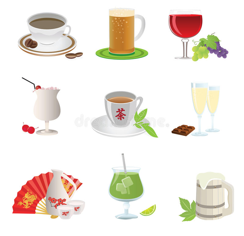 Download Drinks icon stock vector. Image of background, aroma - 18928840
