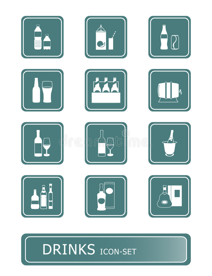 Download Drinks icon-set stock vector. Image of crystal, blanc - 4164011