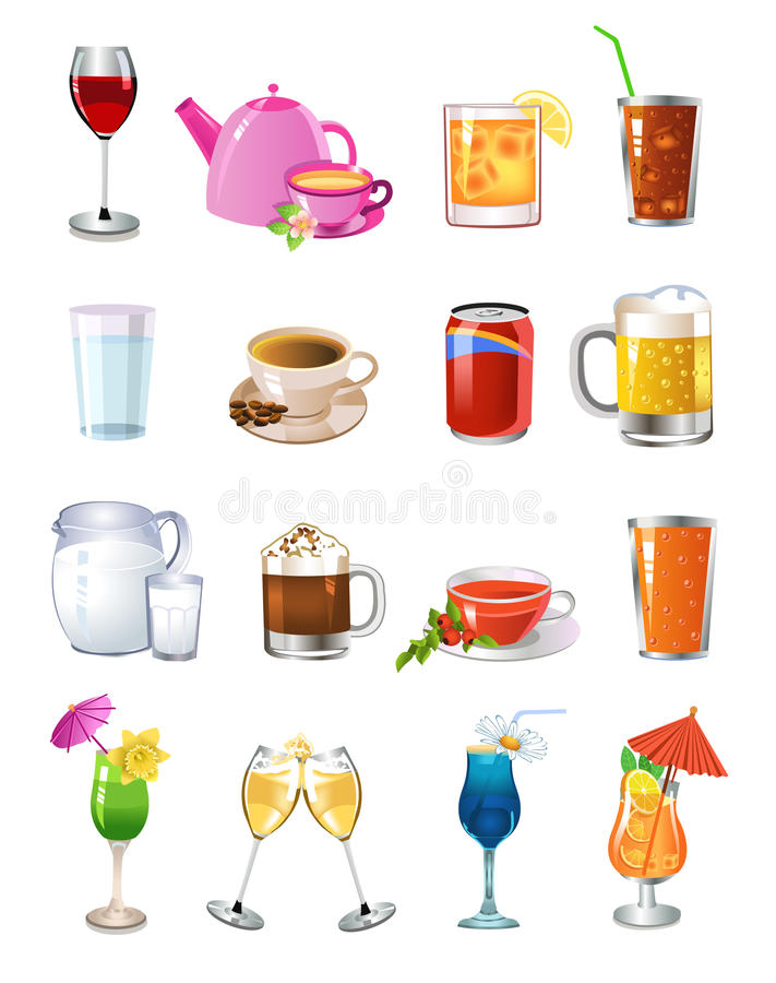 Download Drinks icons stock vector. Image of isolated, coffee - 32487271
