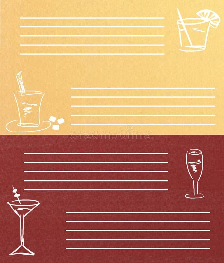 Download Drinks menu stock illustration. Image of lined, insert - 18627921