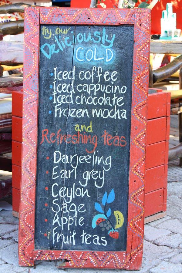 Drinks Menu Board stock photo