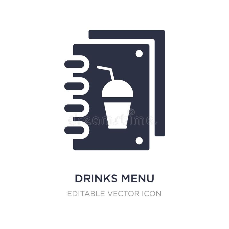 drinks menu icon on white background. Simple element illustration from Food concept vector illustration