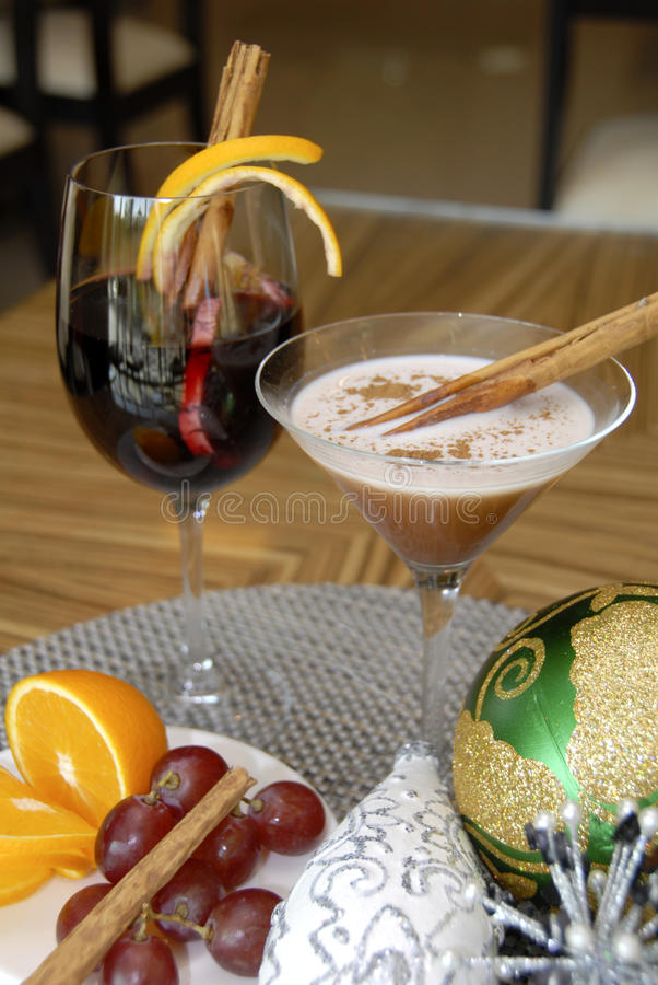 Free Drinks With Christmas Decors Stock Photo - 17051220
