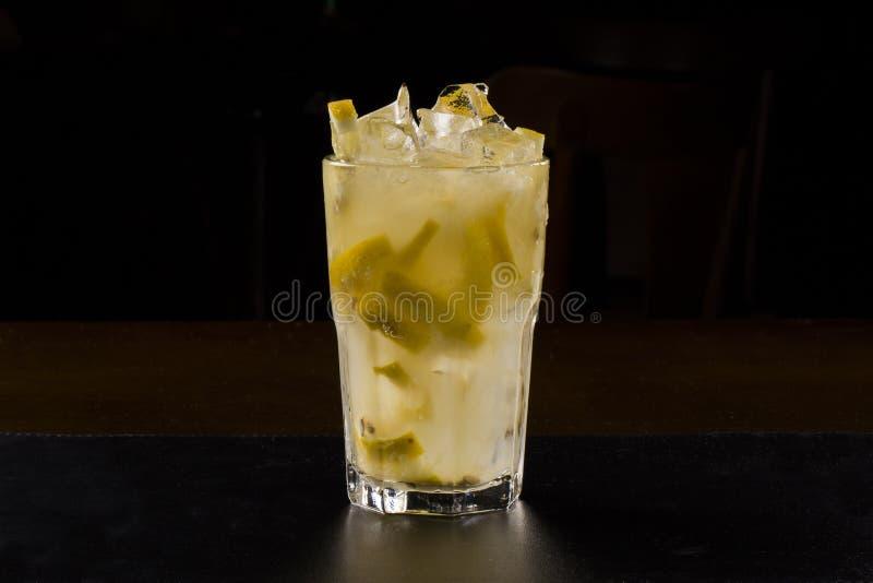 Drinkskott med frukter royaltyfria foton