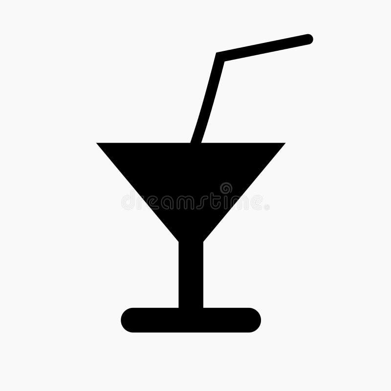 Drinksymbol som förläggas på vit bakgrund stock illustrationer