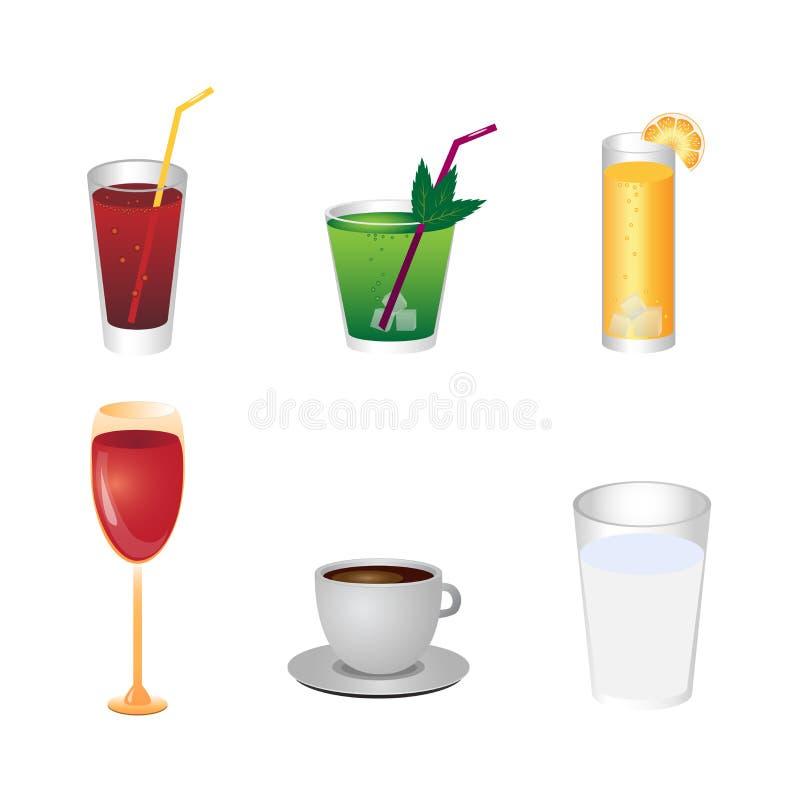 drinksymboler stock illustrationer
