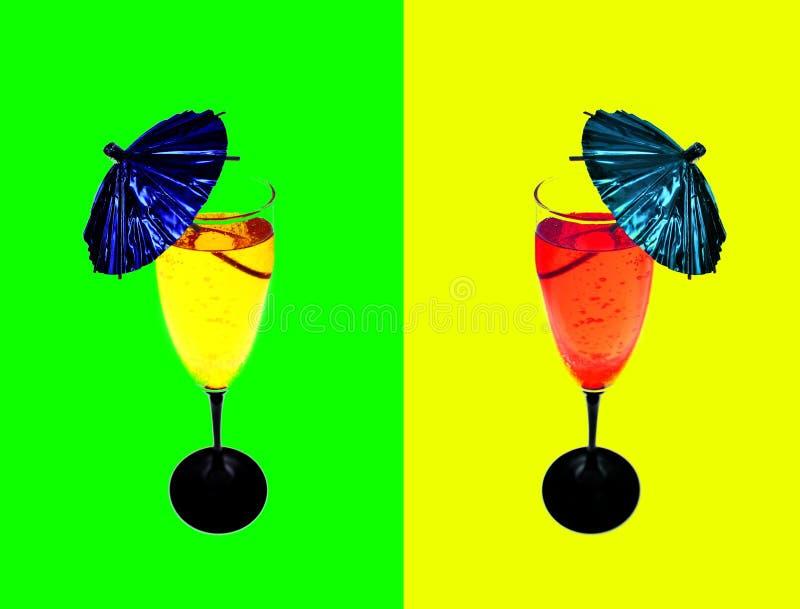 Drinkt cocktail royalty-vrije stock foto's