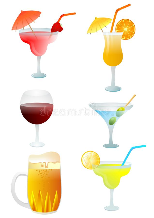 Drinkuppsättning stock illustrationer