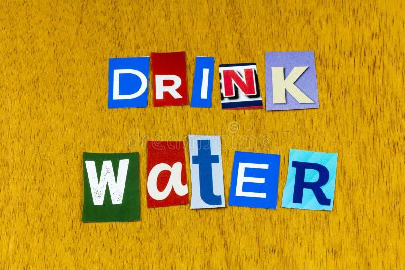Drinkwater hydratatie gezonde levensstijl natuurlijke dorst royalty-vrije stock foto