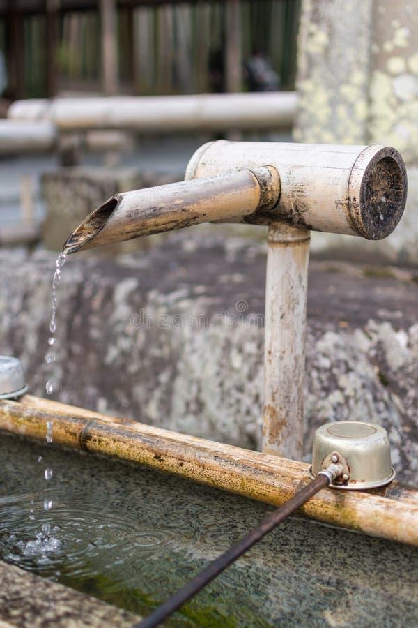 Drinkwater in Tenryuji royalty-vrije stock foto's