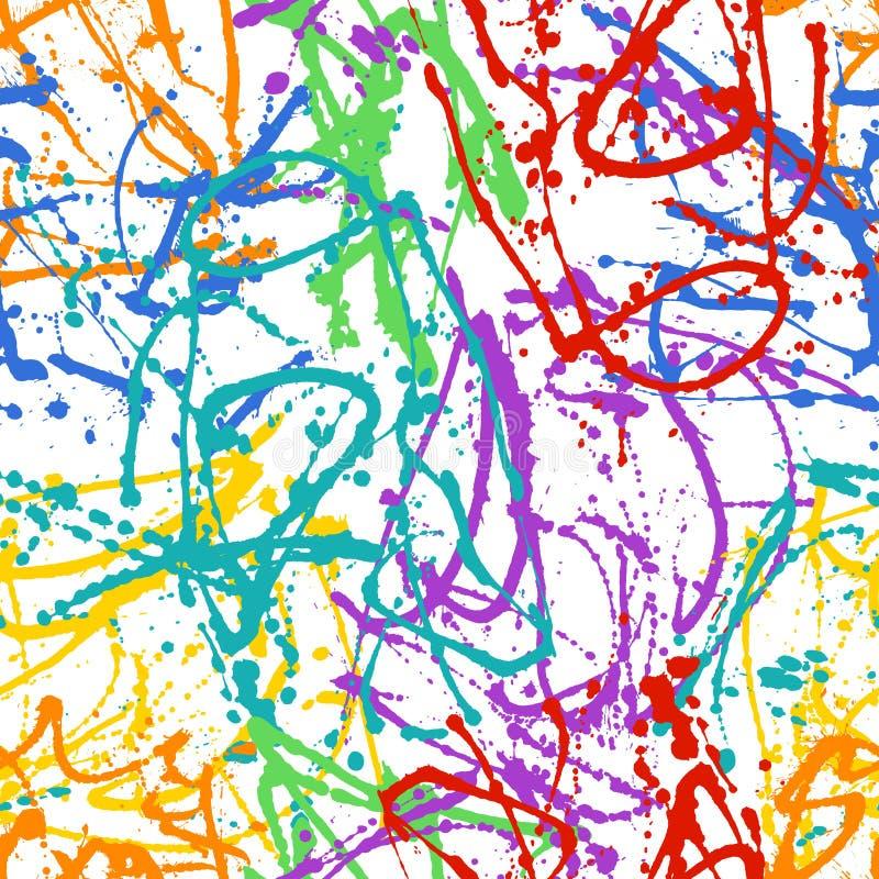 Drip paint seamless pattern stock illustration